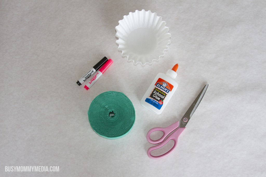 Coffee Filter Jelly Fish Craft