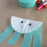 Coffee Filter Jelly Fish Craft for kids