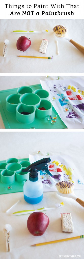 Things to Paint with that are NOT a Paintbrush | This is such a fun open-ended art project for kids! What a great way to let kids be creative!