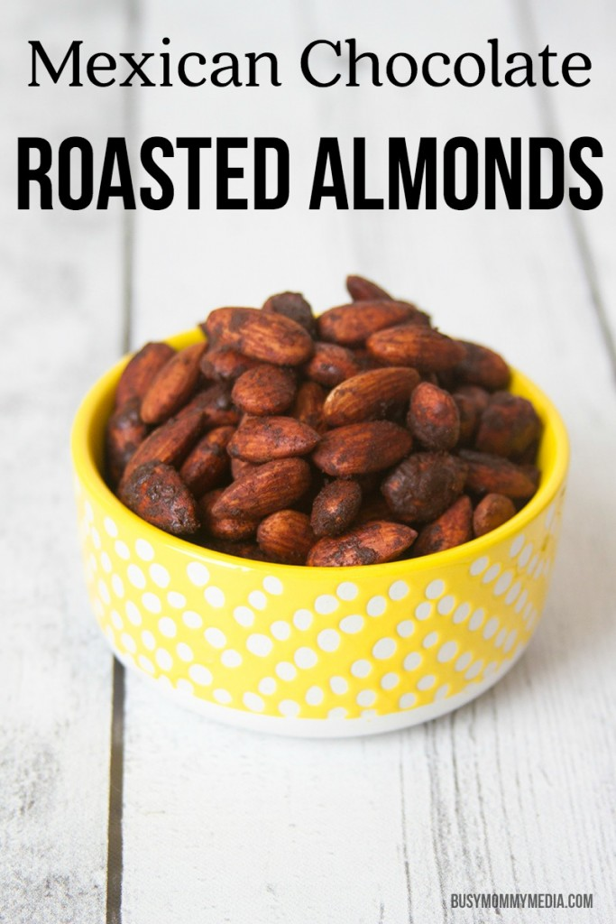 Mexican Chocolate Roasted Almonds   These are such a yummy snack and they are good for you! Win-win!