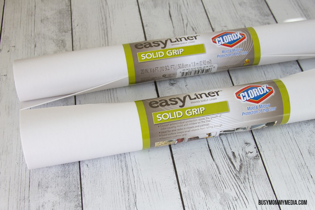 Easy Liner® brand shelf liners by Duck® brand now includes Clorox® antimicrobial protection to prevent the growth of odor-causing mold and mildew.