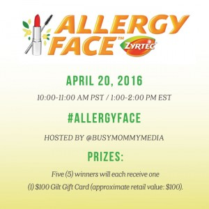 RSVP for the #AllergyFace Twitter Chat