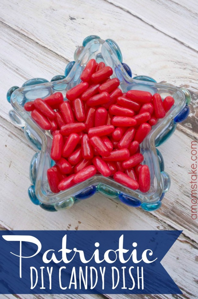 DIY 4th of July Candy Dish