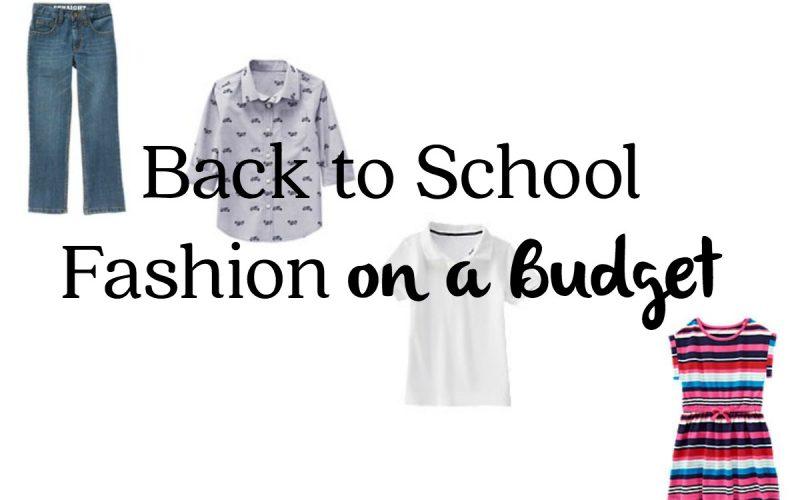 Back to School Fashion on a Budget