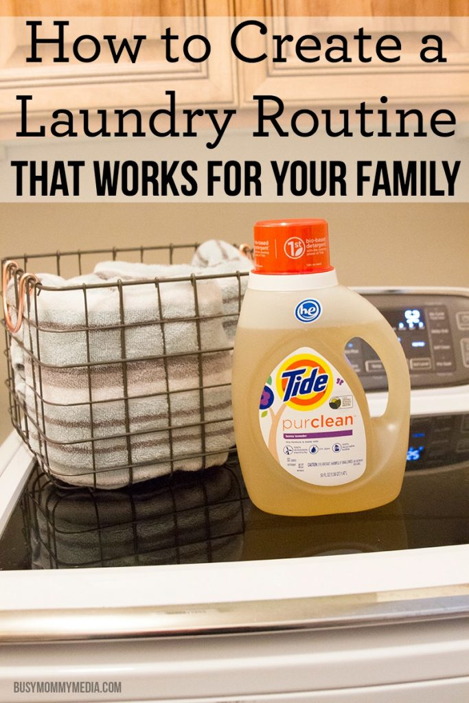 How to Create a Laundry Routine that Works for your Family | Great time-saving tips from a mom of 6