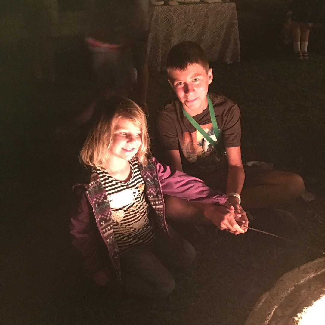 Making smores over the campfire at TheWildLife sleepover at thehellip