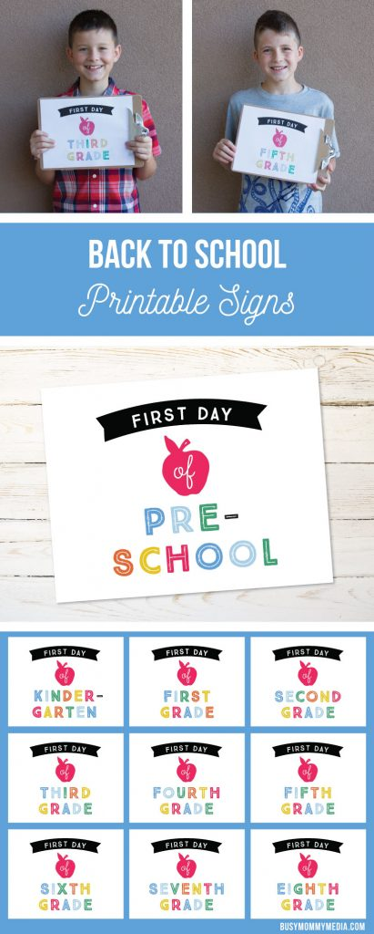 back to school printable signs | What a fun addition to Back-to-School photos!