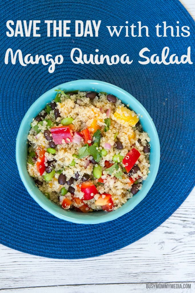 Mango Quinoa Salad | This fresh salad is so quick and easy to throw together!