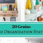 20 Genius Home Organization Stations
