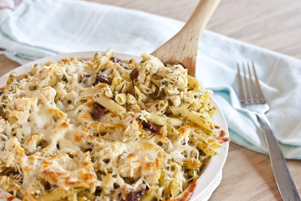 Pesto Ranch Pasta Bake