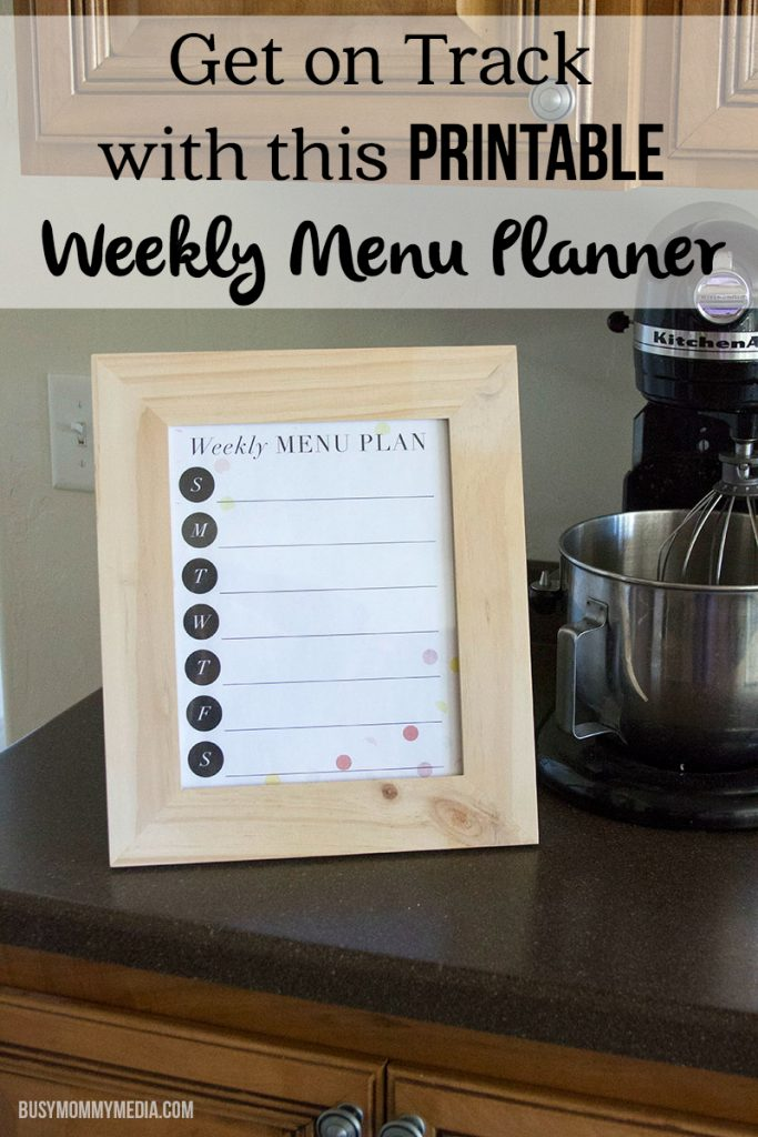 Get on Track with this Printable Weekly Menu Planner