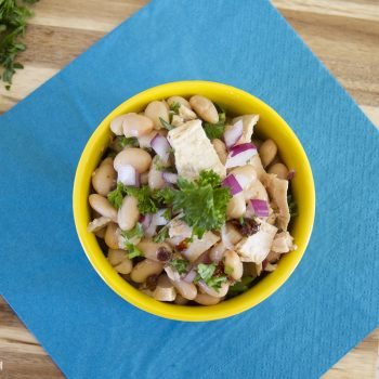 white bean and tuna salad with sun dried tomatoes