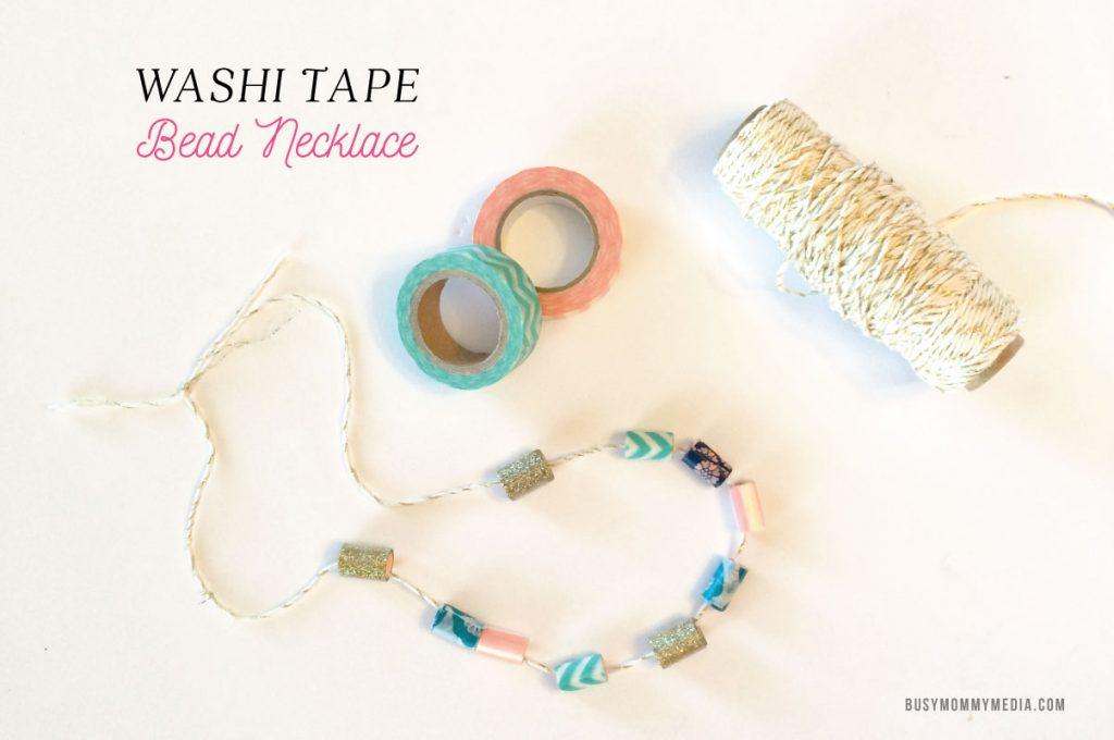 washi tape beads