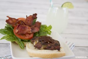 Green Chile and Bacon Burger with Muenster Cheese