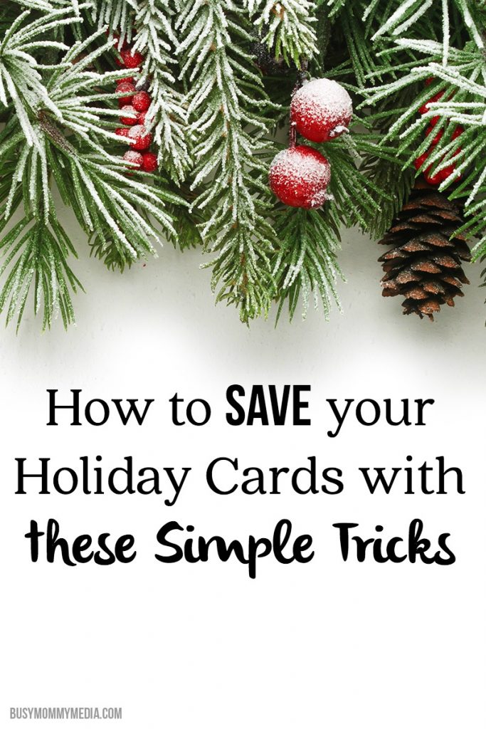 How to Save your Holiday Cards with These Simple Tricks