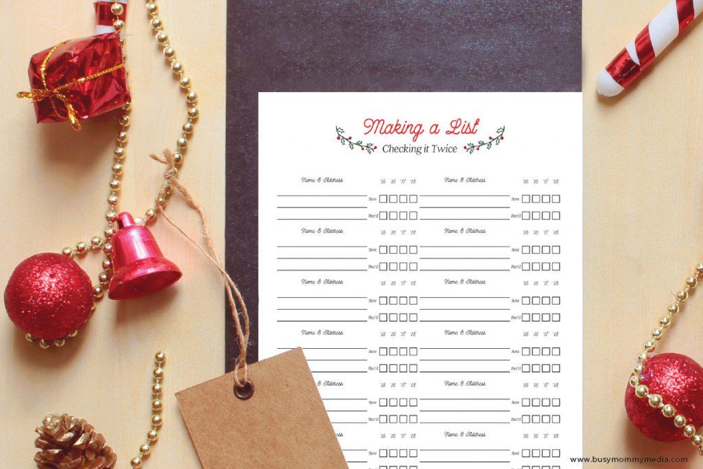 holiday card list