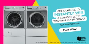 Feeling Lucky? Instantly Win this Kenmore Elite Washer and Dryer Bundle