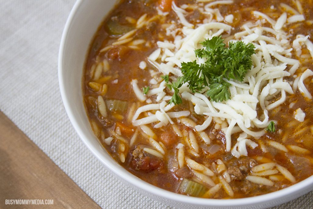 Hamburger Orzo Soup