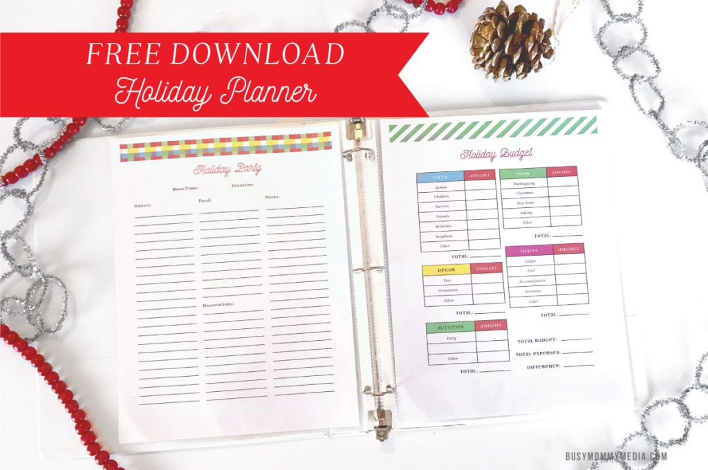 2016 Holiday Planner