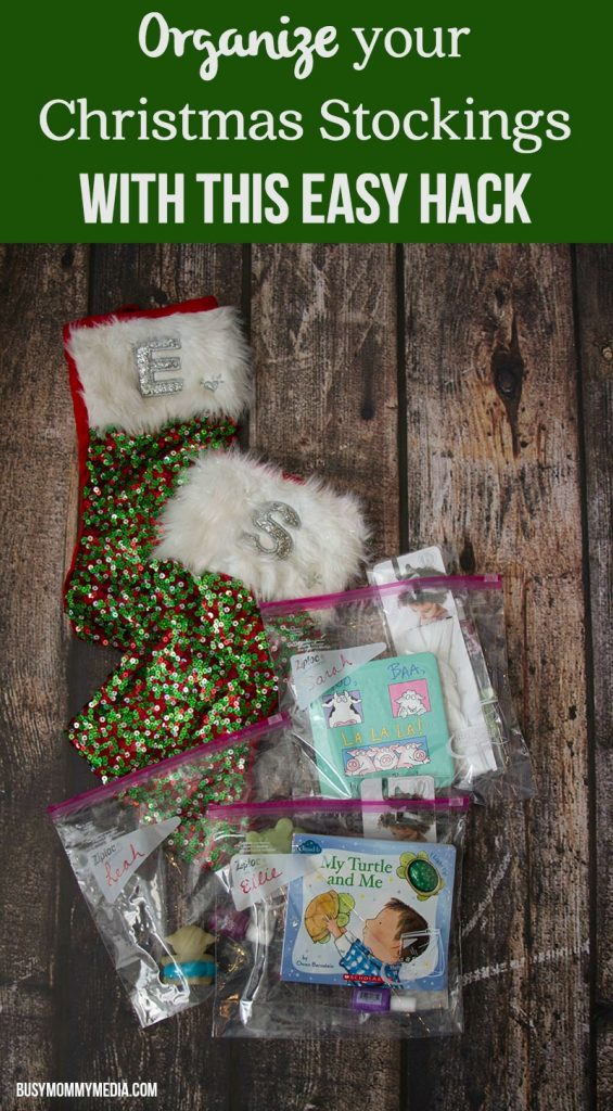 Organize your Christmas Stockings with This Easy Hack