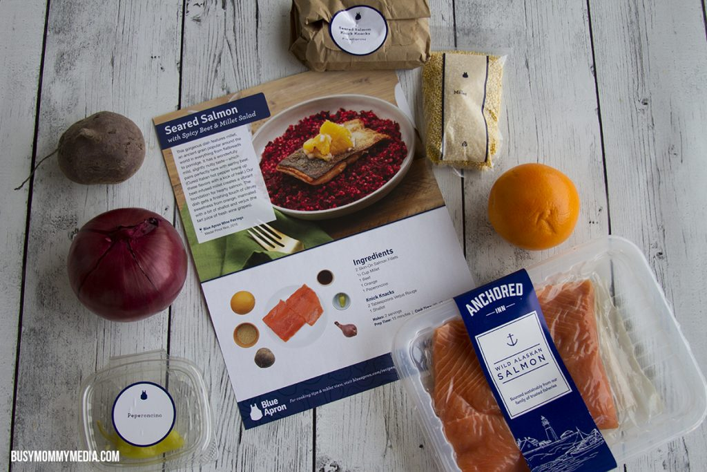 Seared Salmon Ingredients from Blue Apron
