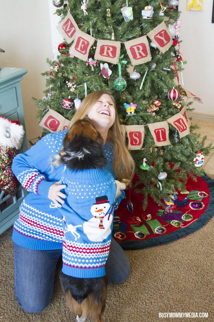 Celebrating dog's first Christmas