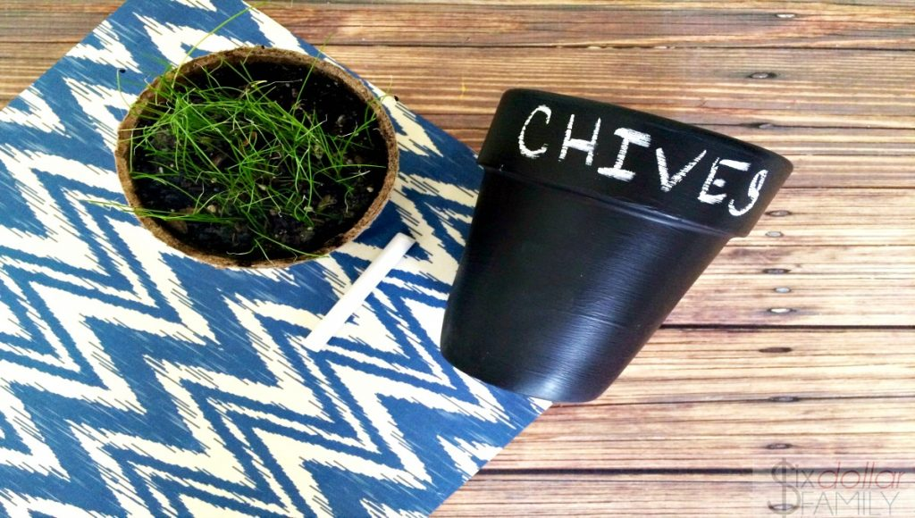 DIY Chalkboard Planter