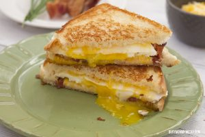 Egg Grilled Cheese Sandwich with Bacon and Chives