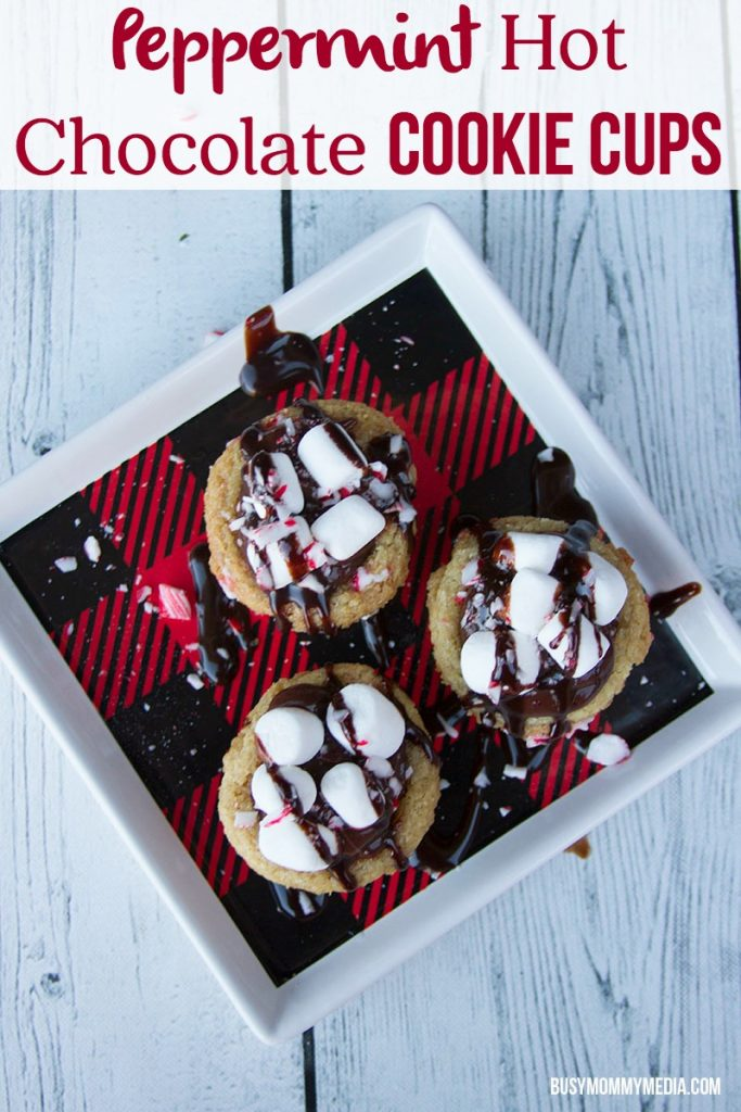 Peppermint Hot Chocolate Cookie Cups with Immaculate Baking Products