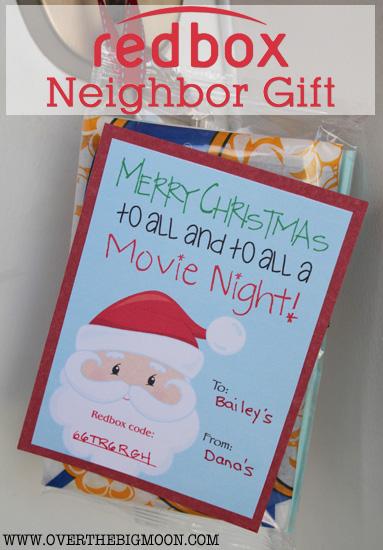 Printable Redbox neighbor gift