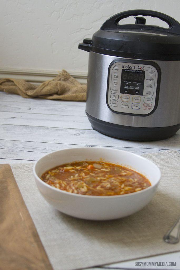 Hamburger Orzo Soup