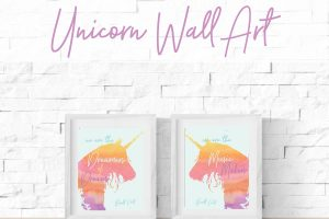 Printable Unicorn Wall Art