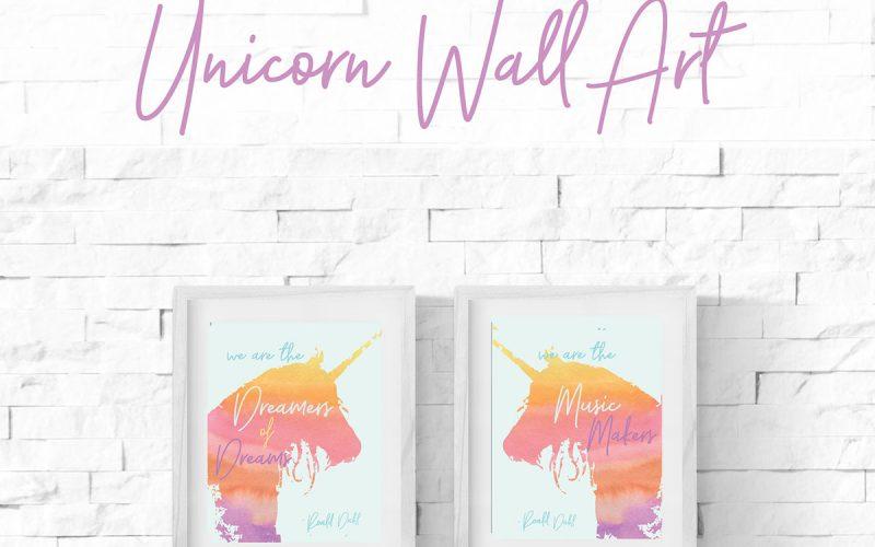 Printable Unicorn Wall Art