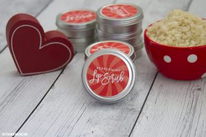 DIY Peppermint Lip Scrub – Includes FREE Printable Labels!