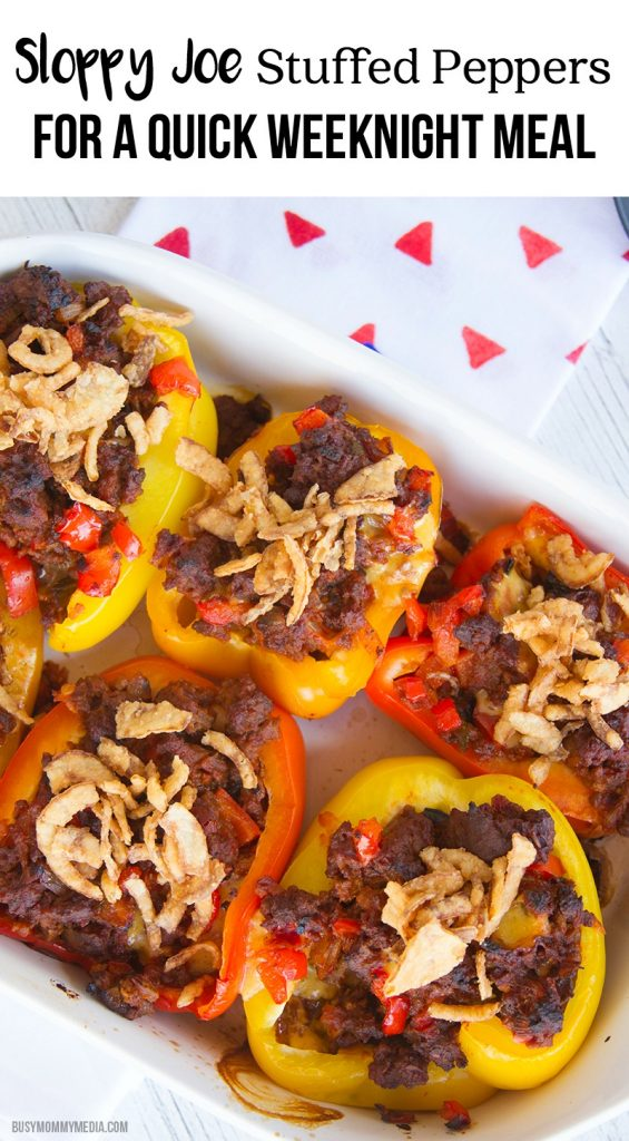 Sloppy Joe Stuffed Peppers - These are such a great way to simplify dinner!