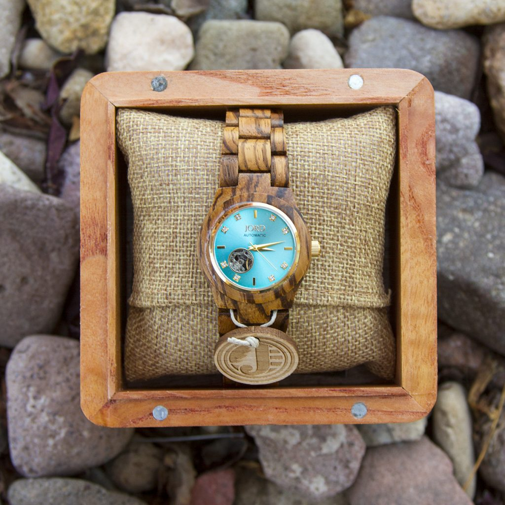 Jord Wood Watch | Zebrawood Cora Watch