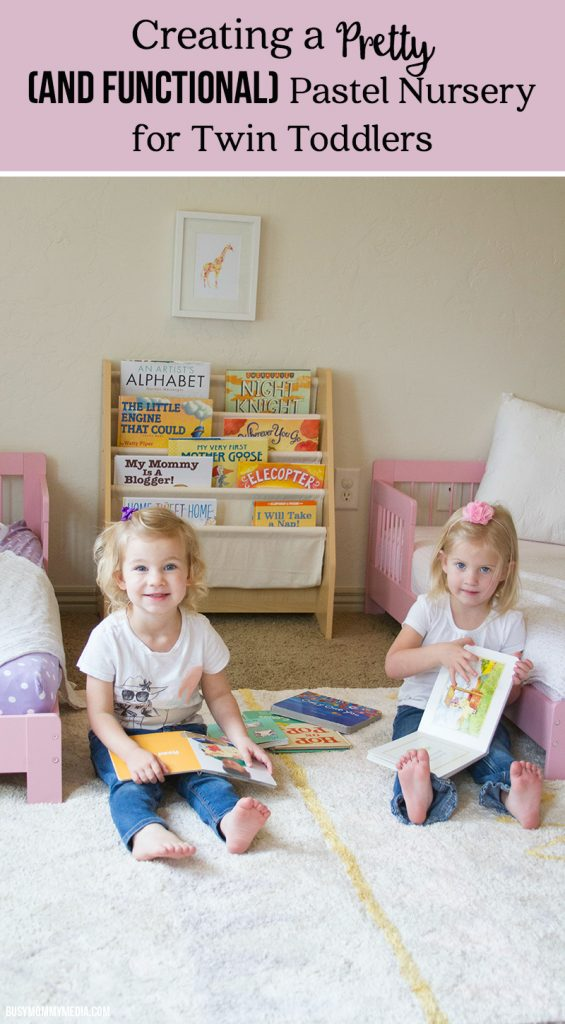 Creating a Pretty (and Functional) Pastel Nursery for Twin Toddlers