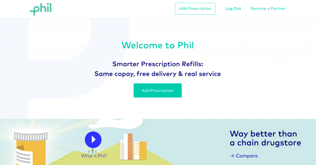 Use Phil for prescription refills