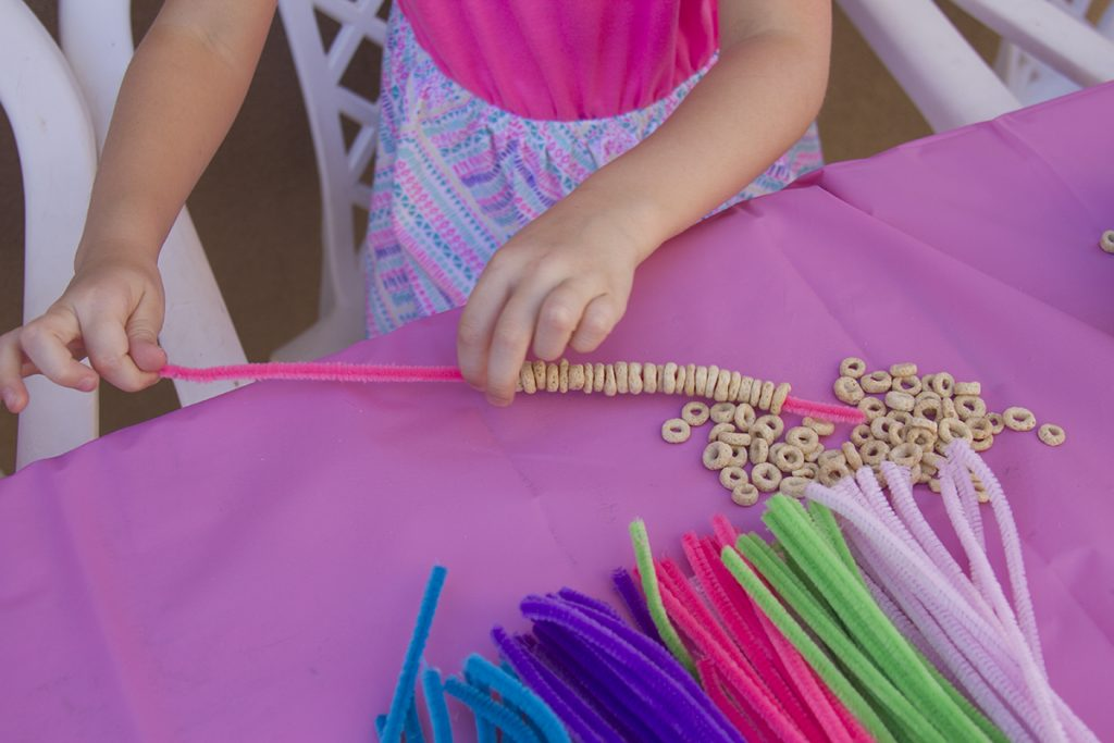 DIY Cheerios Treat Bracelets