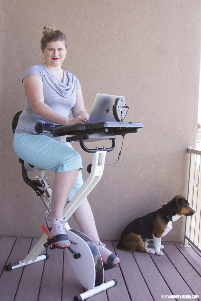 Use a Fit Bike to sneak in some exercise while you work