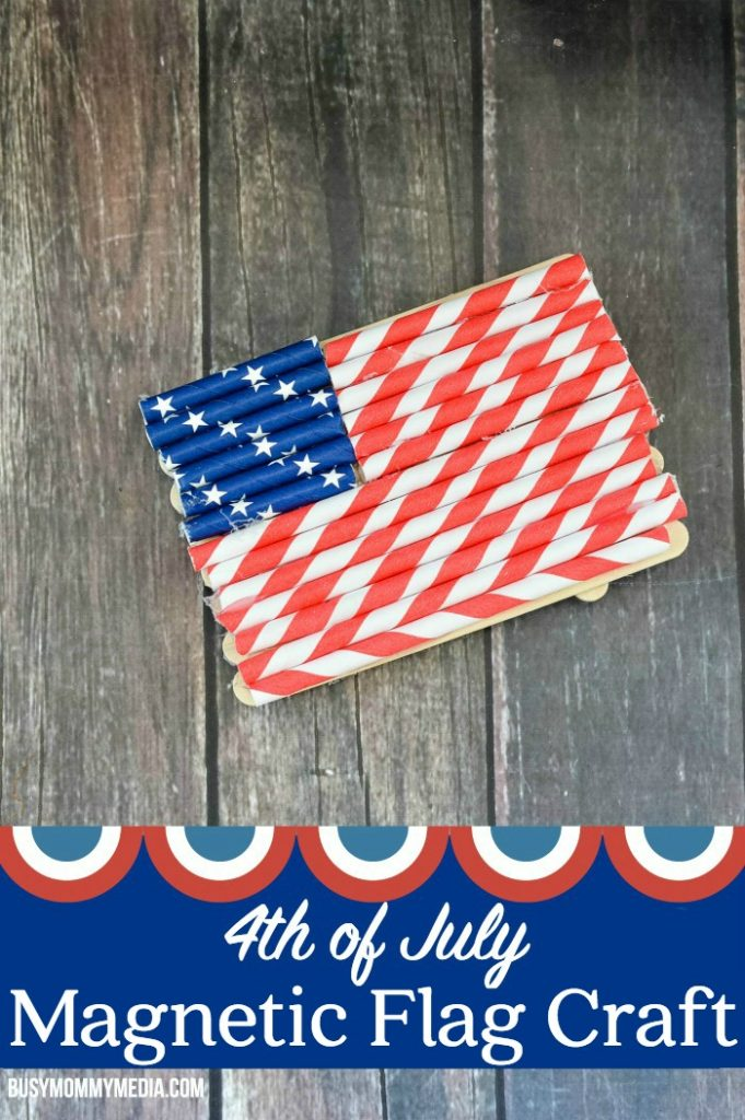 4th of July Magnetic Flag Craft | This is the perfect kids craft for the 4th of July!