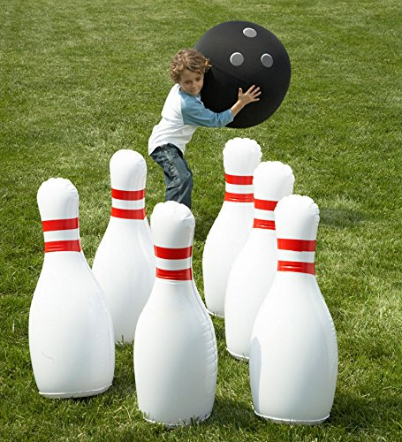 Inflatable lawn bowling