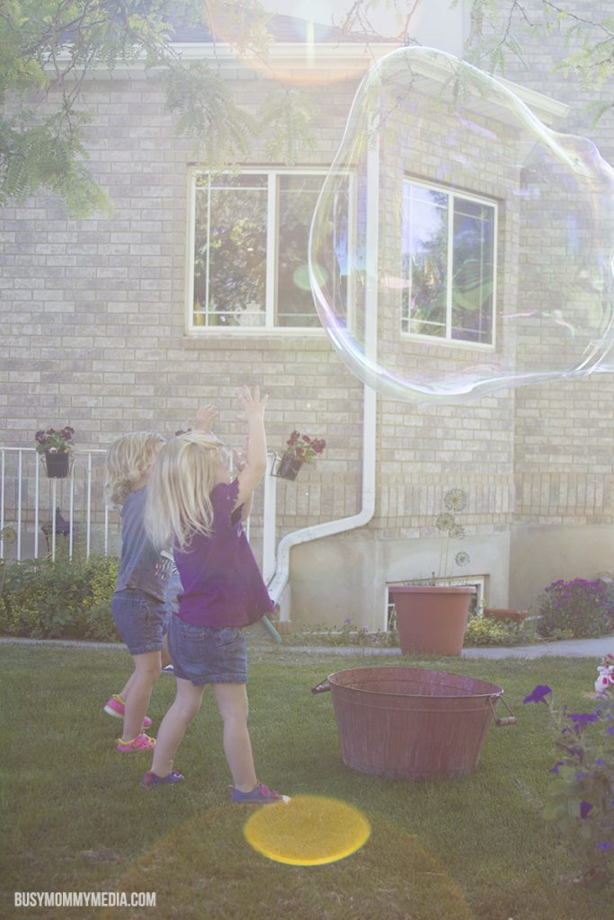 Homemade giant bubbles