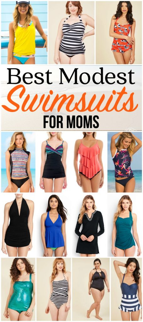 The Best Modest Swimsuits for Moms