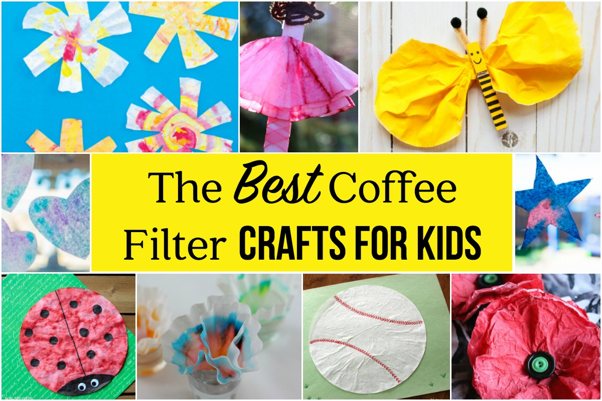 The best coffee filter crafts for kids for Coffee crafts