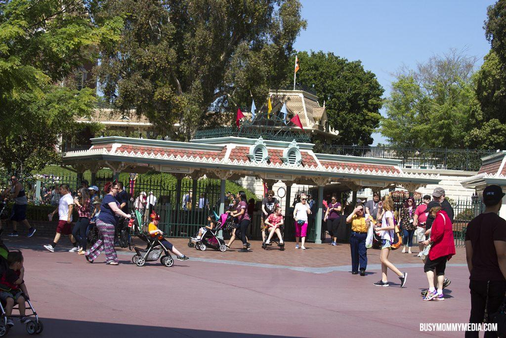 Disneyland front gate