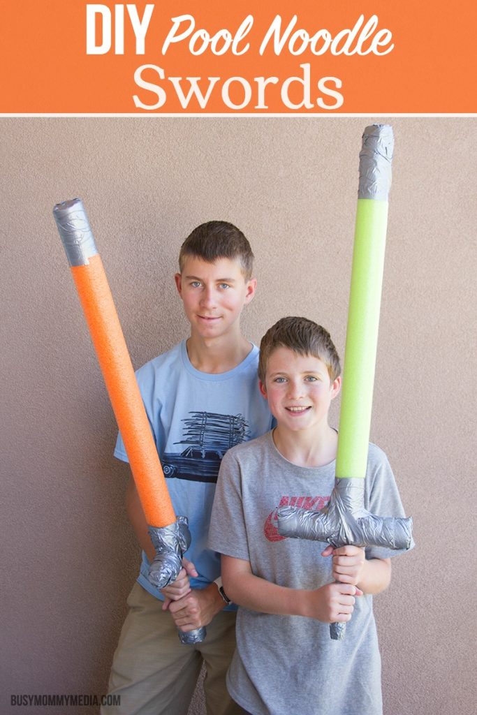 DIY Pool Noodle Swords