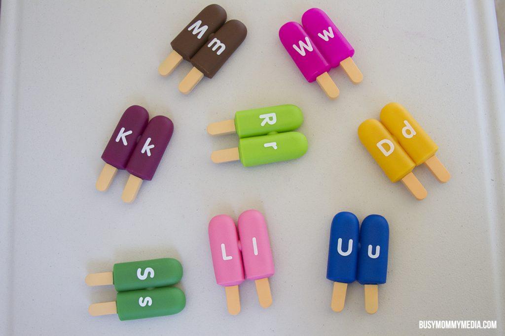ice cream alphabet toy