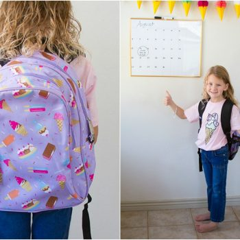 Ice cream backpack for kindergartners