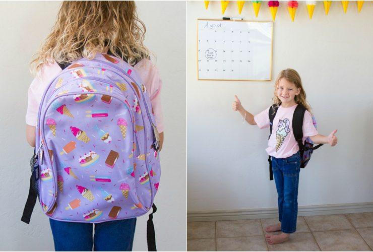 Ice cream backpack for kindergartners
